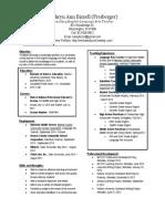 teaching resume pdf