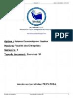 S5 - Fiscalité - Exercices IR