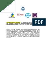 Acuerdo Institucional Canary Wines (Cabildo Tenerife)