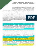 PRIORIZACION DE CUENCAS USANDO PARÁMETROS MORFOMÉTRICOS Y EVALUACIÓN DEL POTENCIAL DE AGUA SUPERFICIAL UTILIZANDO TELEDETECCION