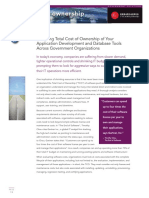 Tco Comparison Report Reducing Total Cost of Ownership Tco of Software Across Government Organizations