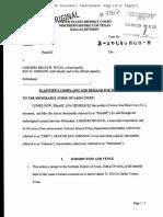 Complaint With Jury Demand - Cruz Family