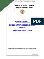 Plan Nacional Electrificacion 2011-2020