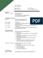 resume 012516