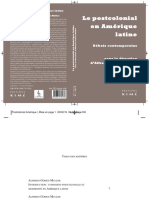 Le Poscolonial en Amérique Latine. Débats Contemporains