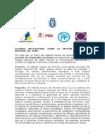 Acuerdo Institucional Parque Nacional El Teide