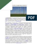 Energía Eólica y Aerogeneradores Domesticos