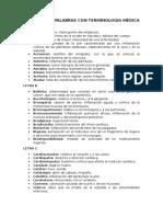 Glosario de Palabras Con Terminología Medica