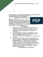 Señor Juez de Primera Instancia de Familia Para La Admisibilidad de Demandas Del Departamento de Guatemala