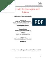 Protocolo de Investigacion Taller 1