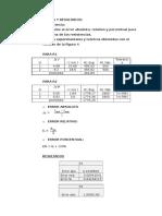 Cálculos y Resultados Inf 3