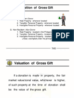 Gross Gift Valuation and Composition