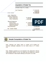 Sample Computation of Estate Tax