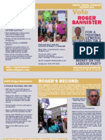 Roger Bannister for UNISON General Secretary leaflet
