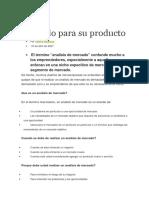 Analisis de Mercado Para Un Producto
