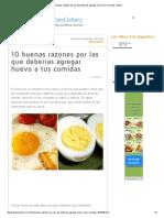 10 Buenas Razones Por Las Que Deberías Agregar Huevo a Tus Comidas _ Salud