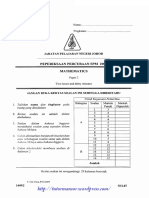 Mathematics Spm Trial 2009 Johor p2 Ans