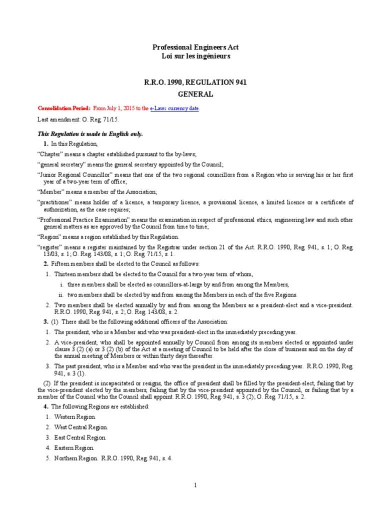 R R O 1990 Reg 941 General Academic Degree Mediation