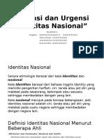 Esensi Dan Urgensi Identitas Nasional