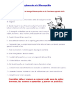 Reglamento Del Monaguillo