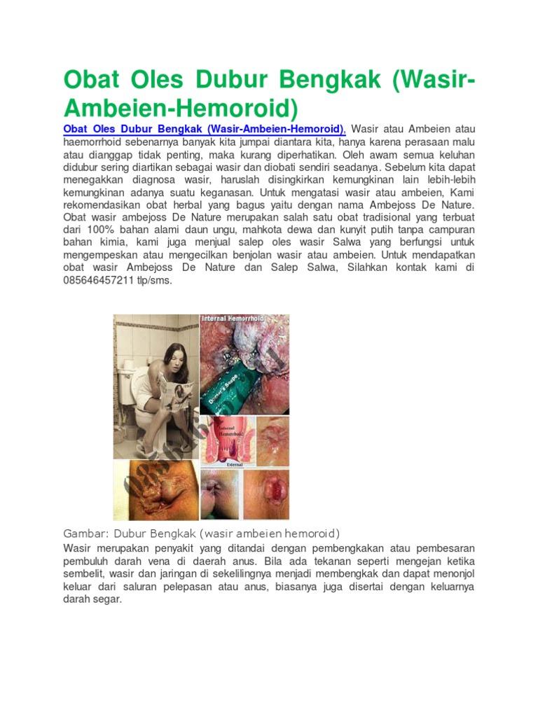 Obat Oles Dubur Bengkak Wasir Ambeien Hemoroid Hemmorhoida Ambien