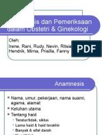 Anamnesis Dan Pemeriksaan Dalam Obstetri & Ginekologi2
