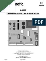 Instrucciones A45M Aprimatic