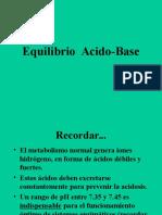 Equilibrio Acido-Base Fisiopatologia