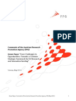 Austria FFG Position GreenPaper CSF 2011