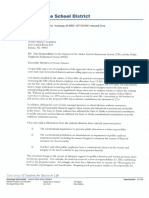 Anchorage School District letter opposing Senate bills