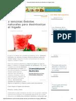 3 Sencillas Bebidas Naturales Para Desintoxicar El Hígado _ Salud