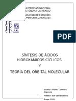 Ácidos Hidroxámicos y Teoría del Orbital Molecular