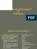 Overview of Food Quality