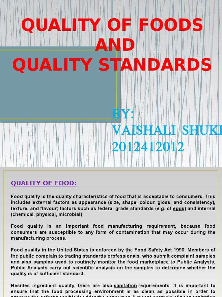 Food Law Ppt | Iso 9000 | Food And Drink