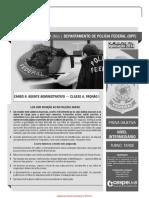 Prova Policia Federal Cargo Administrativo