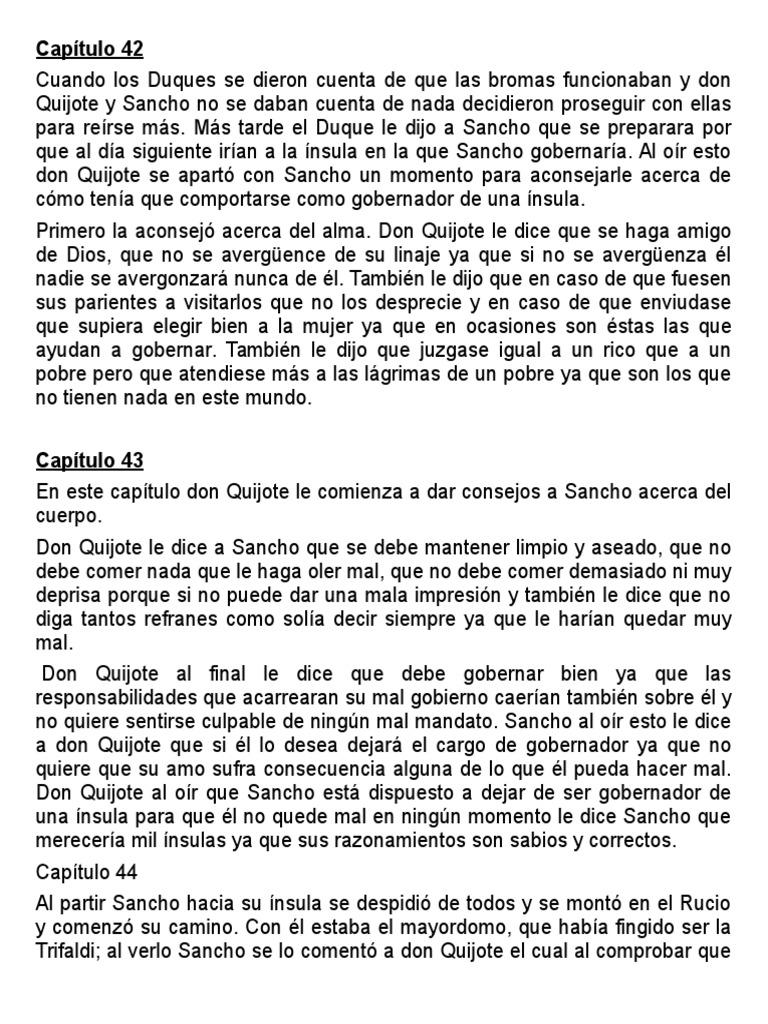2 Parte Quijote Capítulo 42-45 | Don Quijote