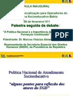 Palestra Marcos Vinicius Aula Inaugural Socioeducativo 0902111