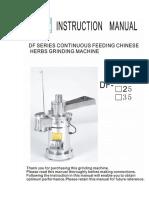 DF Manual of Pulverizer