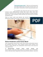 Cara Membersihkan Lantai Keramik Kamar Mandi
