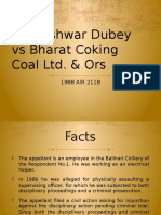 Kusheshwar Dubey vs Bharat Coking Coal Ltd & Ors.