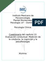 Cuestionario psicología clínica