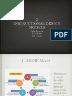 edci 888 instuctional design models