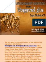 Learn Management Mantras from Bhagavad Gita, says Global ACT