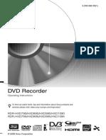 Instructio Operation Manual DVD 3295080121