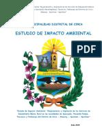 Estudio de Impacto Ambiental Saneamiento Circa
