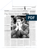 Pau Gasol hincó la rodilla