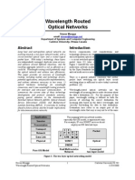 Wavelength Routed Optical Networks
