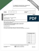 Past paper environmental management 0680_s07_qp_1
