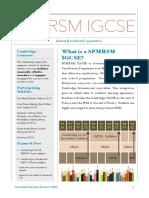 PAMPLET SPMRSM IGCSE