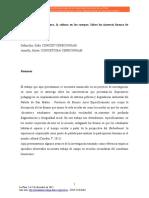 Dafunchio, Sofia Los Cuerpos en La Cultura, La Cultura en Los Cuerpos